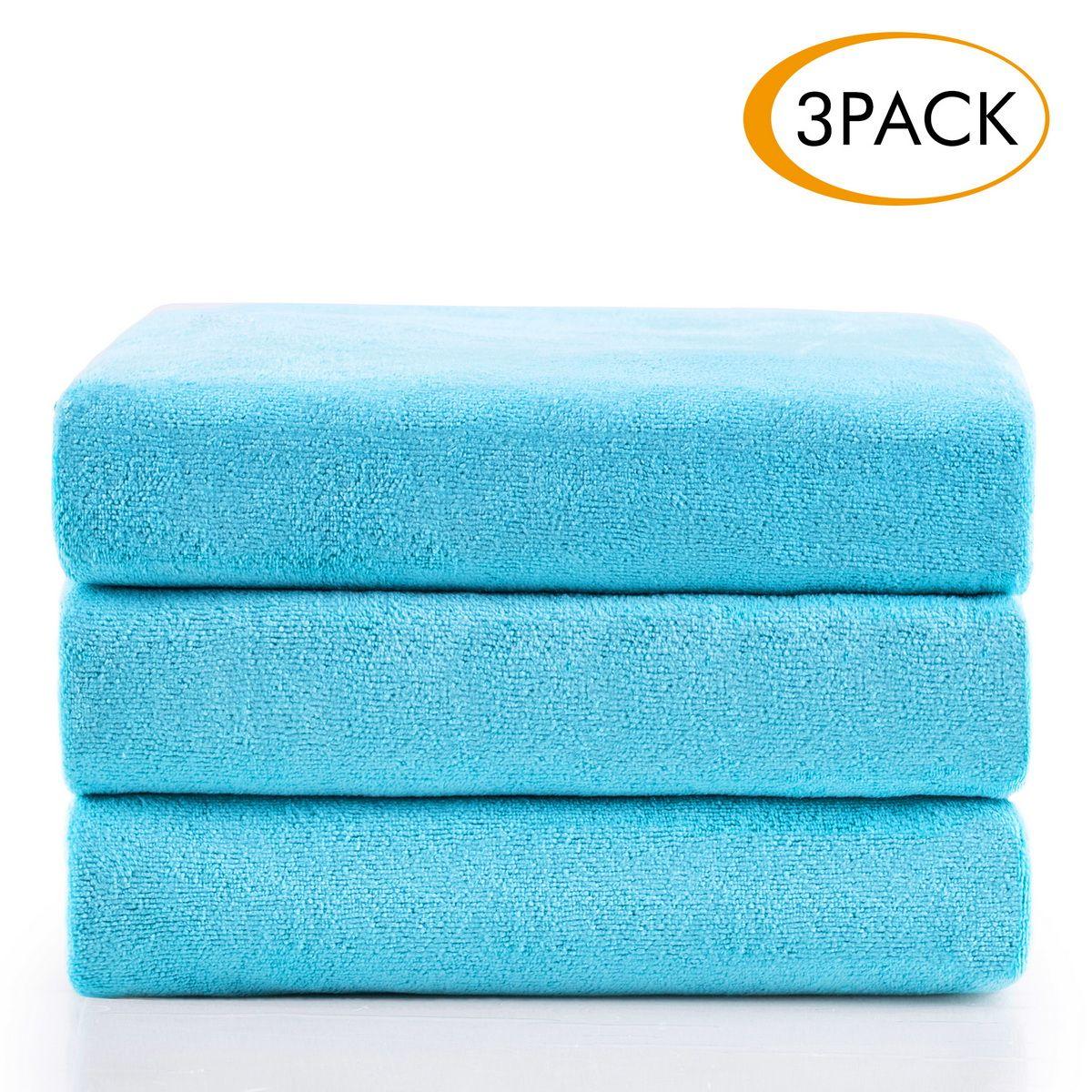 Ultra Soft Microfiber Bath Towel Large Gym Sport Travel TowelS Quick-Dry
